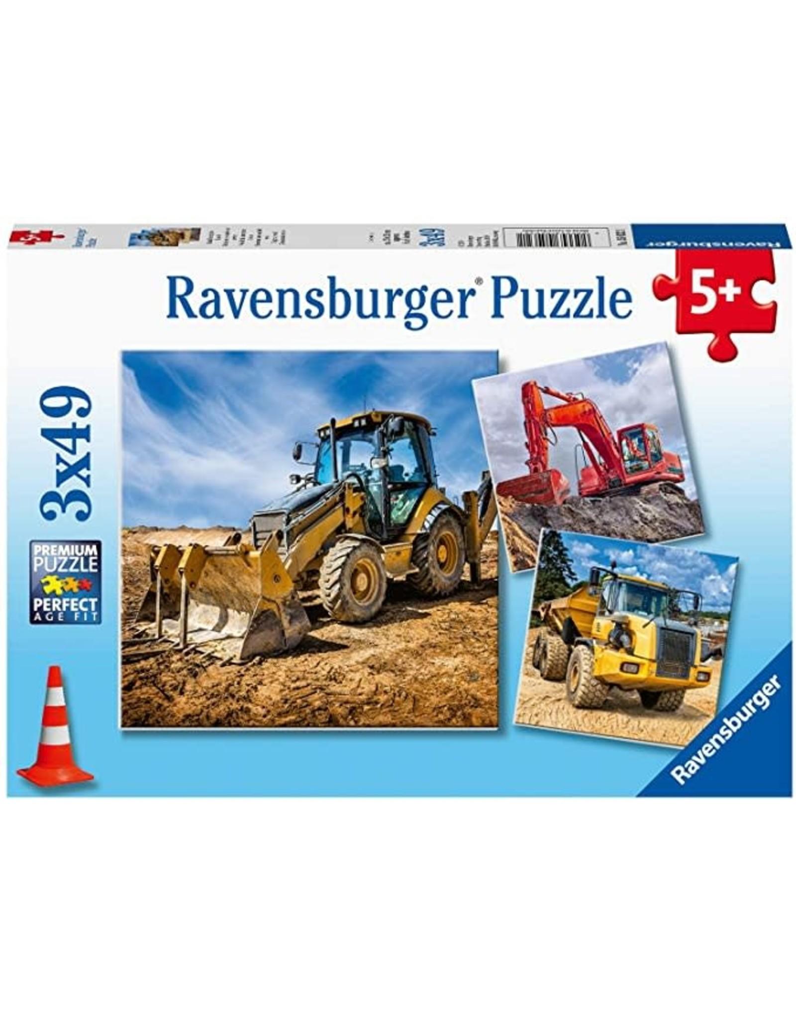 Ravensburger Diggers At Work! 3x49pc