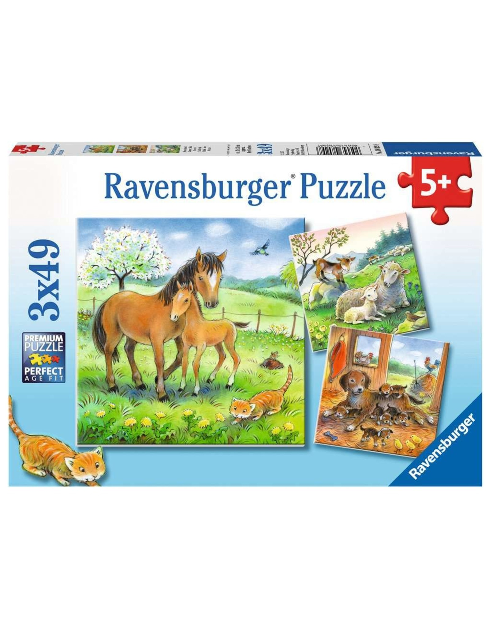Ravensburger Cuddle Time 3x49 pc
