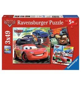 Ravensburger Disney Cars: Worldwide Racing Fun 3x49 pc