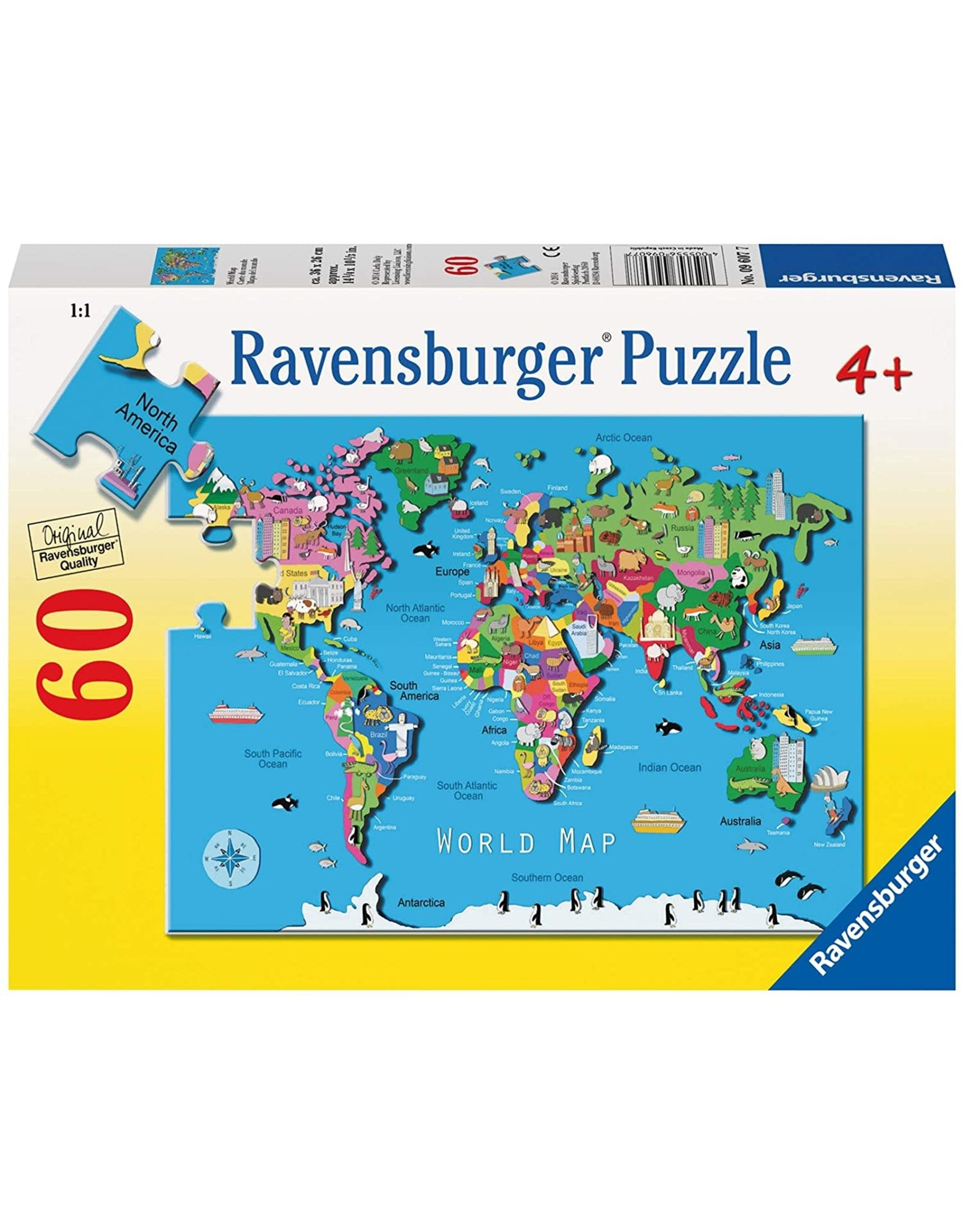 Ravensburger World Map 60 pc