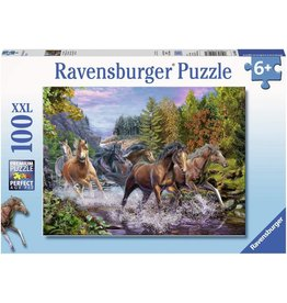 Ravensburger Rushing River Horses 100 pc