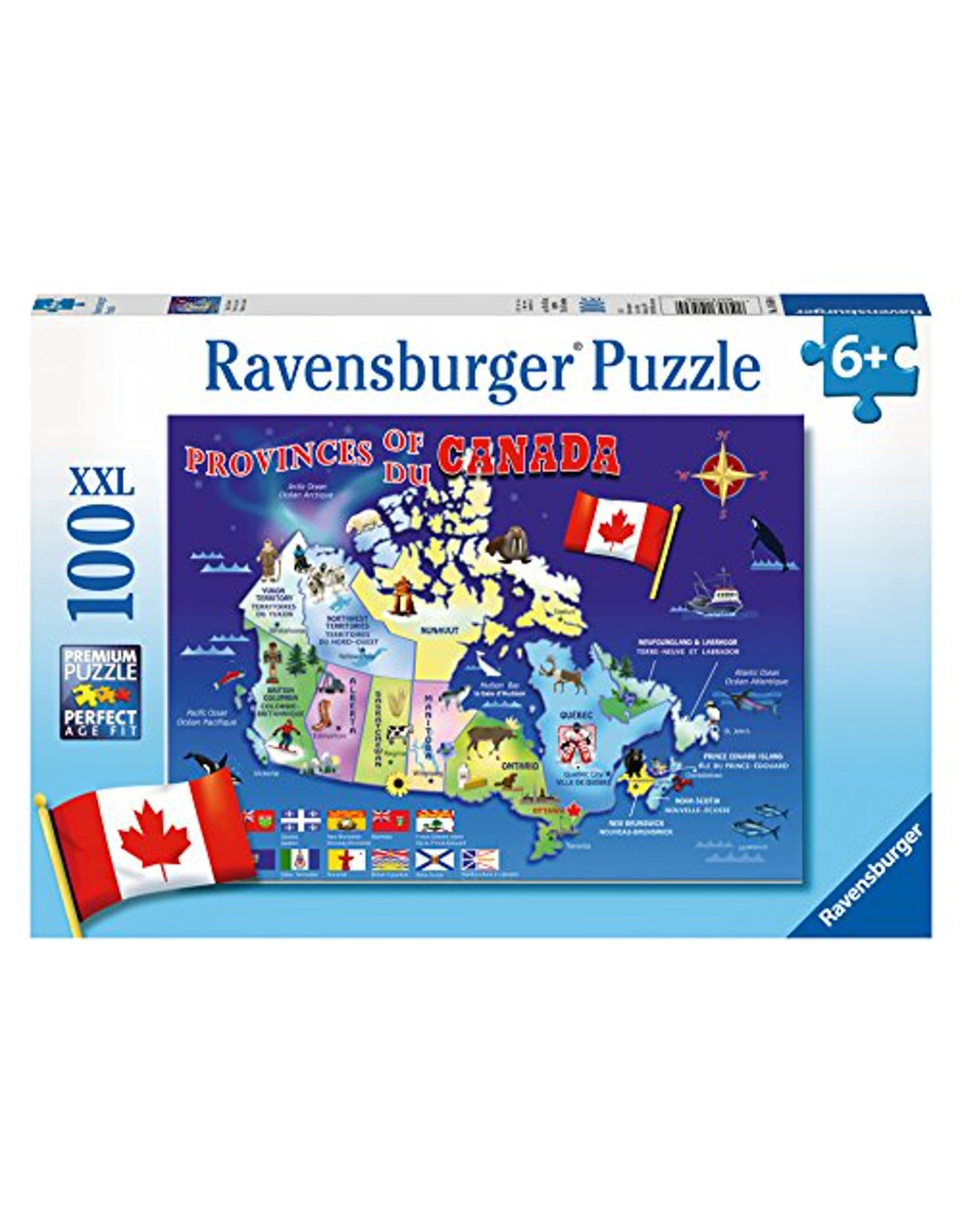 Ravensburger Map of Canada 100 pc