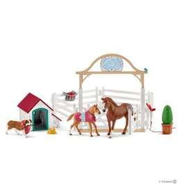 Schleich Hannah's Guest Horses w/Ruby the dog