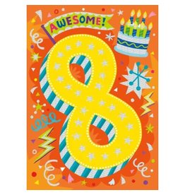 Peaceable Kingdom Age 8 Foil Card