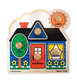 Melissa & Doug First Shapes Large Peg Puzzle