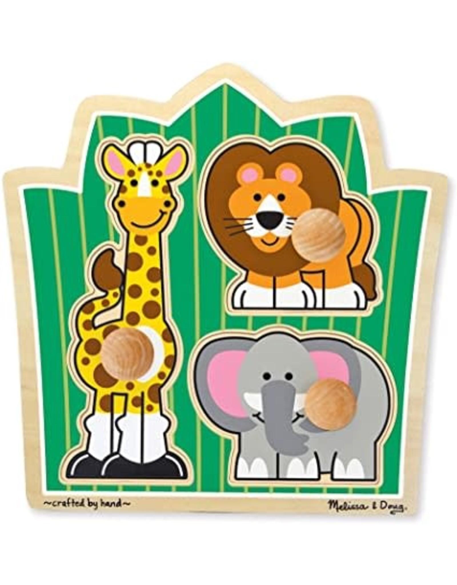 Melissa & Doug Jumbo Knob Puzzle - Jungle Friends