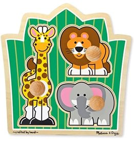 Melissa & Doug Jumbo Knob Puzzle - Jungle Friends