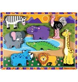 Melissa & Doug Safari Animals Chunky Puzzle