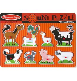 Melissa & Doug Sound Puzzle - Farm Animals