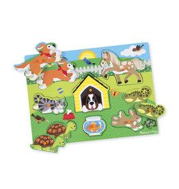 Melissa & Doug Melissa & Doug: Wooden Peg Puzzle - Pets