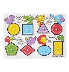 Melissa & Doug Melissa & Doug Shapes Peg Puzzle
