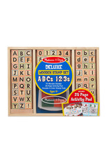 Melissa & Doug Melissa & Doug: Deluxe Wooden Stamp Set - ABC 123