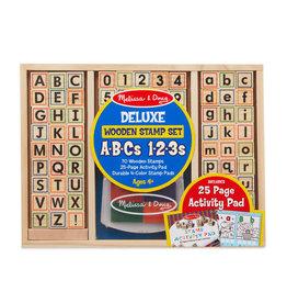 Melissa & Doug Melissa & Doug: Deluxe Wooden Stamp Set - ABC 123