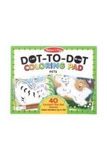 Melissa & Doug Dot-to-Dot Colouring Pad - Pets