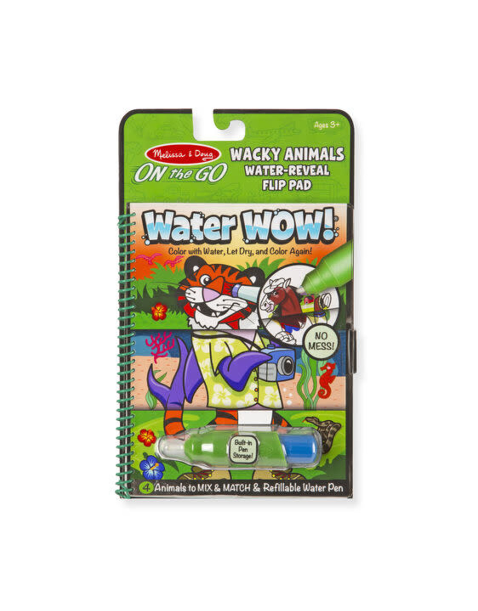 Melissa & Doug Water Wow! Wacky Animals Water Reveal Flip Pad