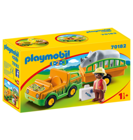 Playmobil Zoo Vehicle with Rhinoceros