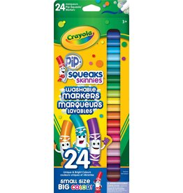 Crayola 24 Pip-Squeaks Skinnies Fine Line Washable Marker