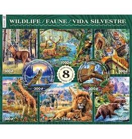 8 in 1 1000 Piece WIldlife Puzzles