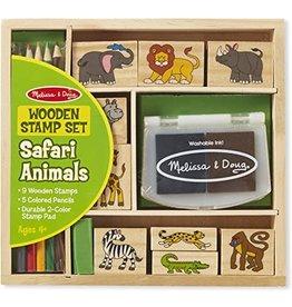 Melissa & Doug Melissa & Doug: Wooden Safari Animals Stamp Set
