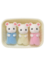 Calico Critters BL Marshmallow Mouse Triplets Calico Critters
