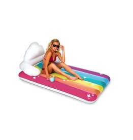 Big Mouth Toys Big Mouth Pool Float - Rainbow Clouds Mattress