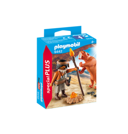 Playmobil Caveman with Sabertooth Tiger