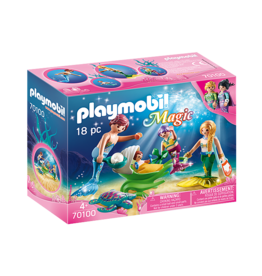 Playmobil Family with Shell Stroller
