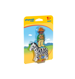 Playmobil Ranger with zebra