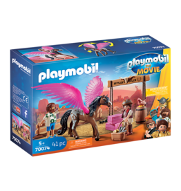 Playmobil Marla and Del with Flying Horse
