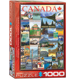 Eurographics Travel Canada Vintage Posters 1000 pc