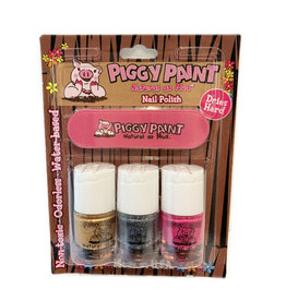 Piggy Paint Piggy Paint 3 Pack LOL/Glitterbug/Heart of Gold with Nail File