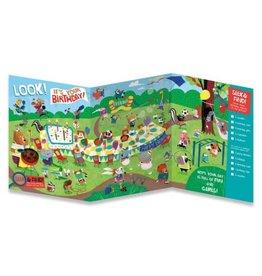 Peaceable Kingdom Birthday Seek and Find Tri-Fold Card