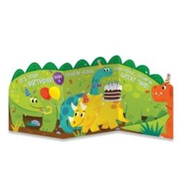Peaceable Kingdom Dino Tri-Fold Card