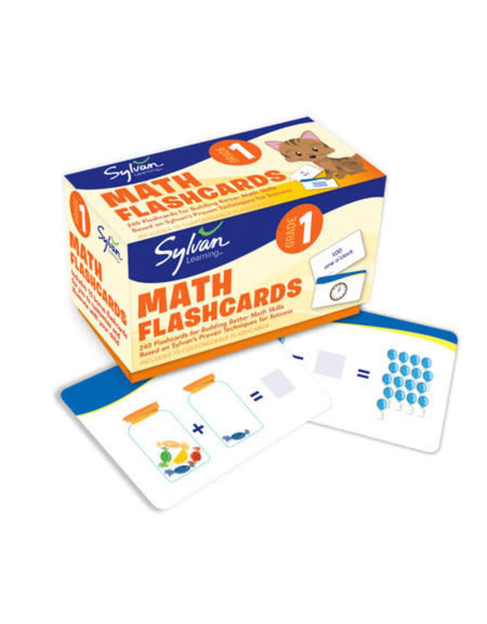Sylvan First Grade Math Flash Cards