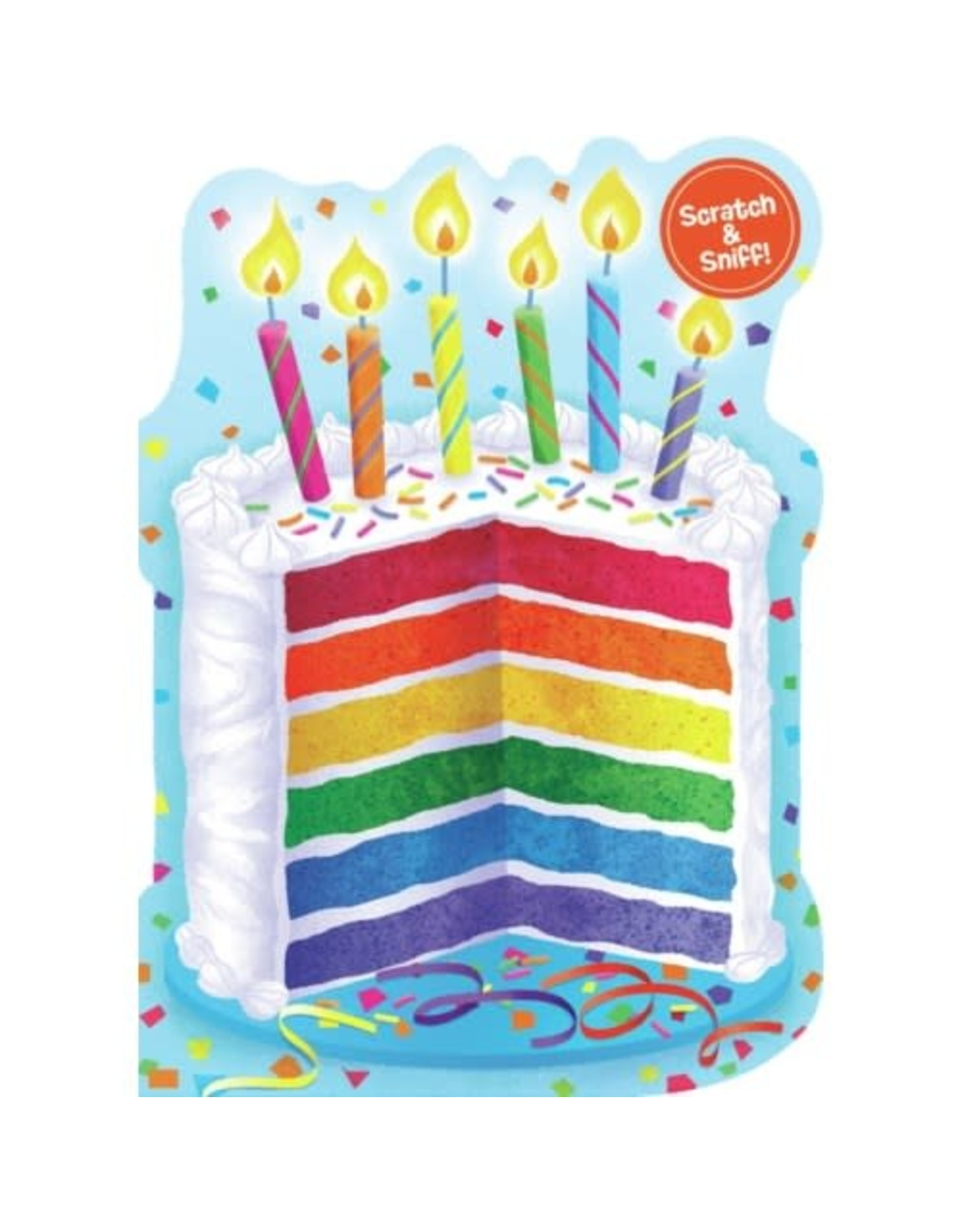 Peaceable Kingdom Rainbow Cake Scratch & Sniff Card