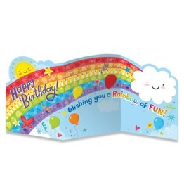 Peaceable Kingdom Rainbow Tri-Fold Card