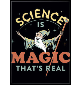 Snorgtees Science is Magic Flat Magnet