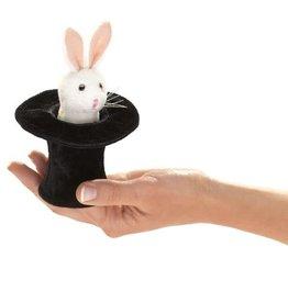 Folkmanis Folkmanis Mini Rabbit in Hat Finger Puppet