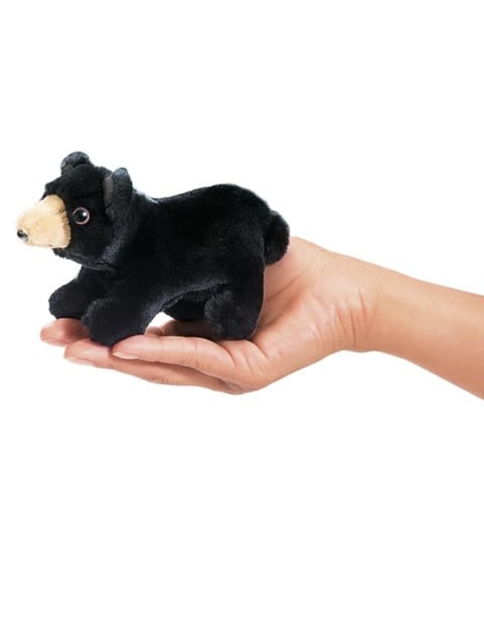 Folkmanis Folkmanis Mini Black Bear Finger Puppet