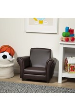 Melissa & Doug Child's Armchair - Coffee Faux Leather