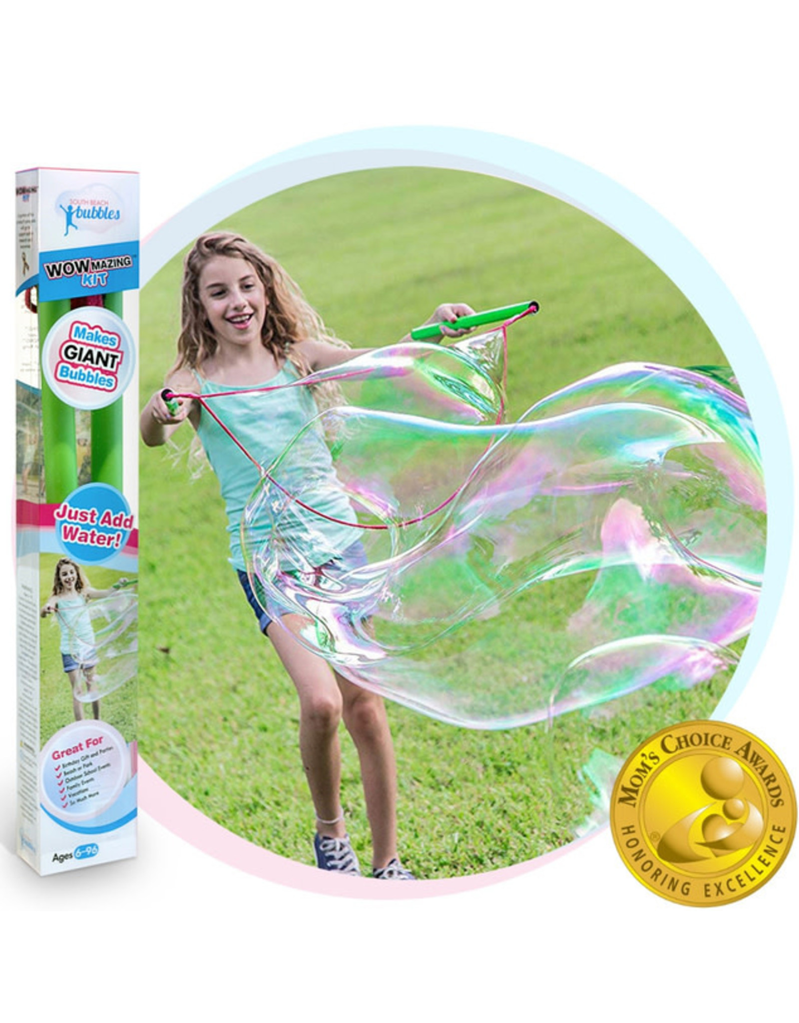WOWMAZING Giant Bubble Wand & Concentrate Kit