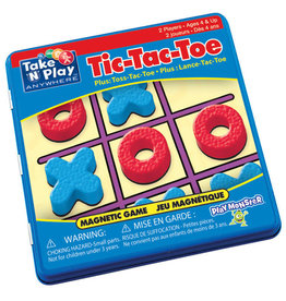 Play Monster Tic-Tac-Toe Game Magnetic Game Tin