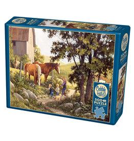 Cobble Hill Summer Horses 500pc