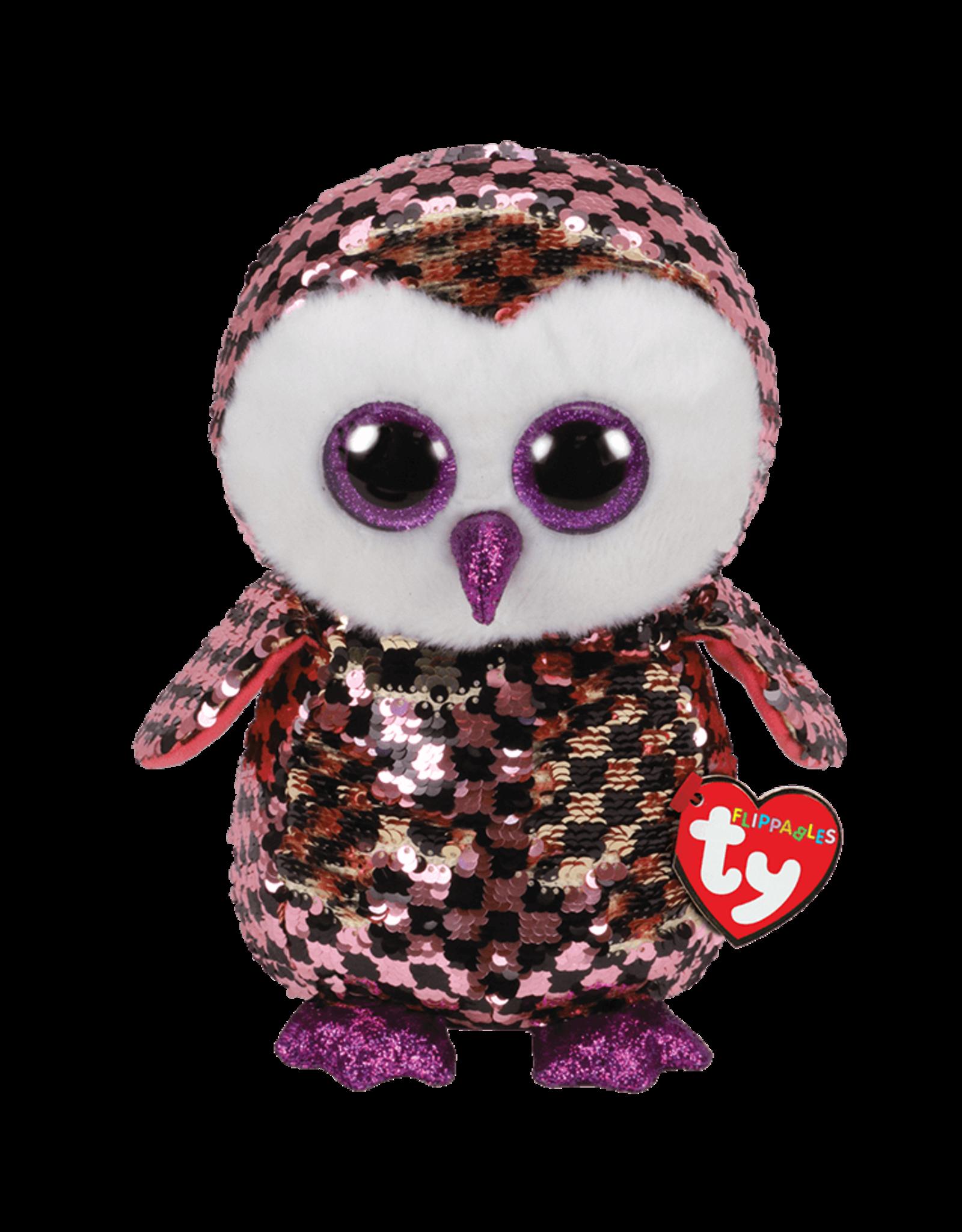 Ty Checks - Sequin Pink/Black Owl Med
