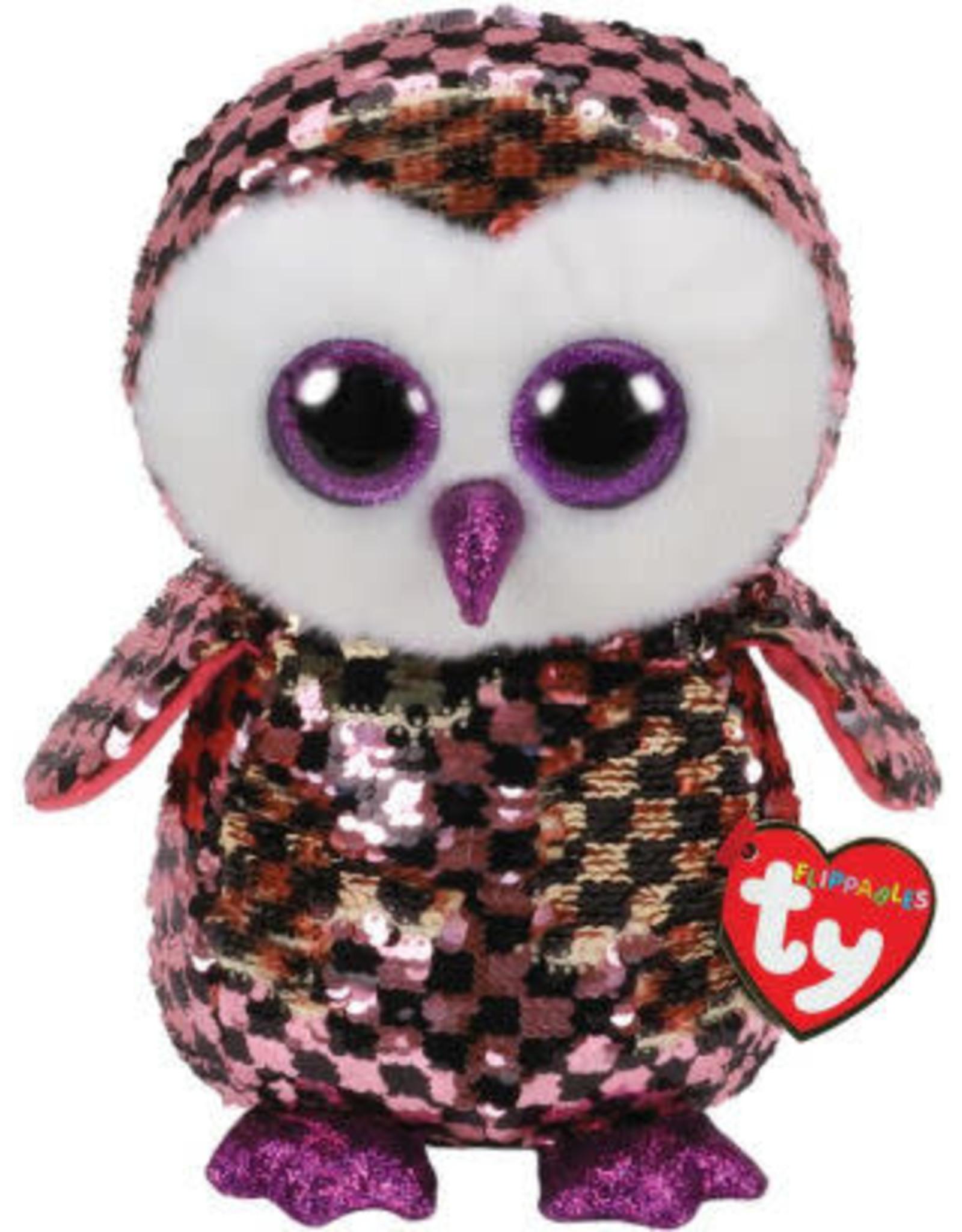 Ty Checks - Sequin Pink/Black Owl Reg