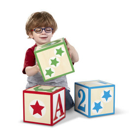 Melissa & Doug Jumbo ABC 123 Blocks - Classic