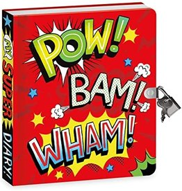 Peaceable Kingdom Superhero Foil Diary