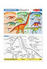 Melissa & Doug Learning Mat Dinosaurs