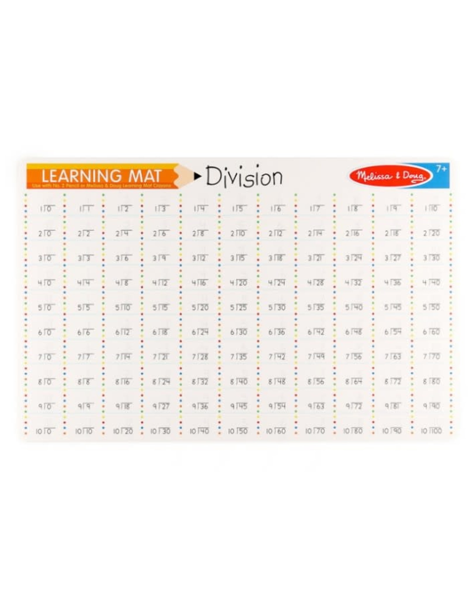 Melissa & Doug Learning Mat Division Problems