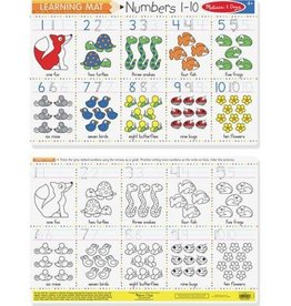 Melissa & Doug Learning Mat Numbers 1 - 10